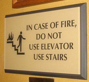 Code Elevator Sign 1