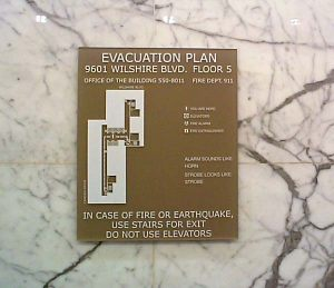 Code Evacuation Sign