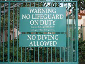 Code Lifeguard Sign 2