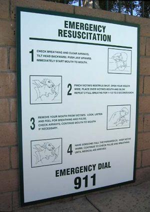 Code Resucitation Sign