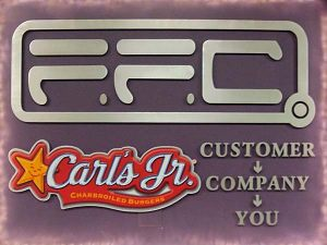 Corporate ID CNC Router Cut Aluminum Sign 1