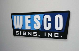 Corporate ID Layered Acrylic Sign Wesco