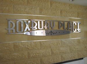Corporate ID Polished Aluminum Sign