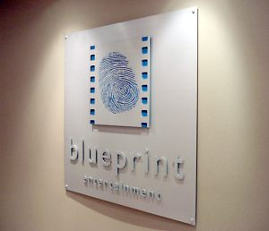 Corporate ID Silk Screened Aluminum Sign