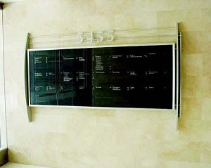 Directory Lobby Sign