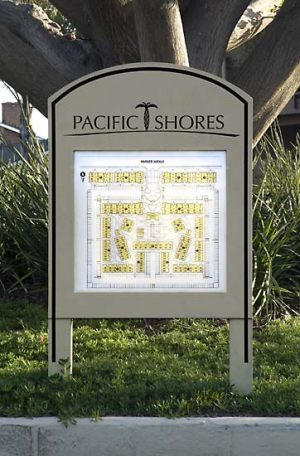 Specialty Illuminated Site Map Sign