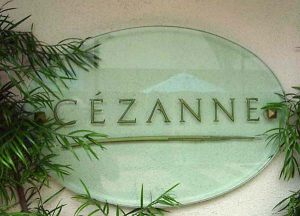 Specialty Sandblasted Glass Sign