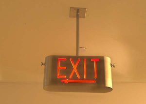 Specialty Stainless Steel Exit Sign 2