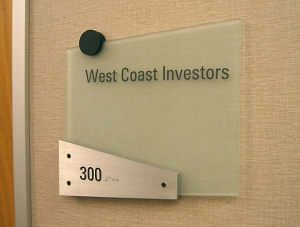 Suite Floating Glass Panel Sign