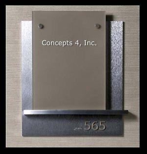 Suite Machined Aluminum Sign