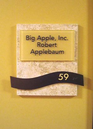 Suite Marble Sign
