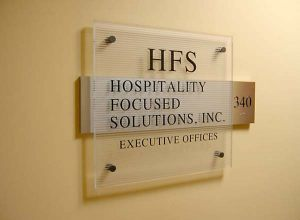 Suite Polished Acrylic Sign