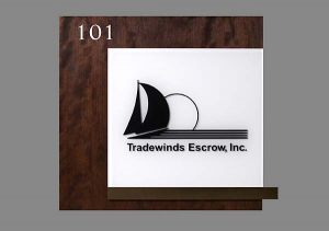 Suite Stained Wood Veneer Sign