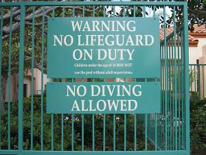 Code Lifeguard Sign 2