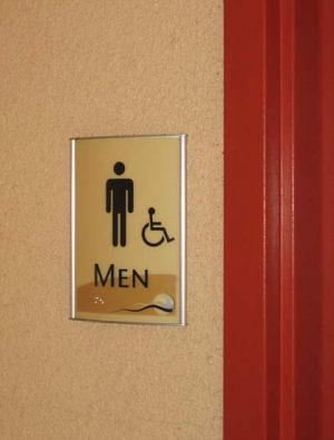 Code Restroom Sign 1