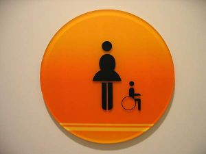Code Restroom Sign 2