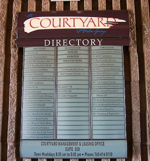 Directory Digital Print Sign 2