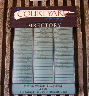 Directory Digital Print Sign 2