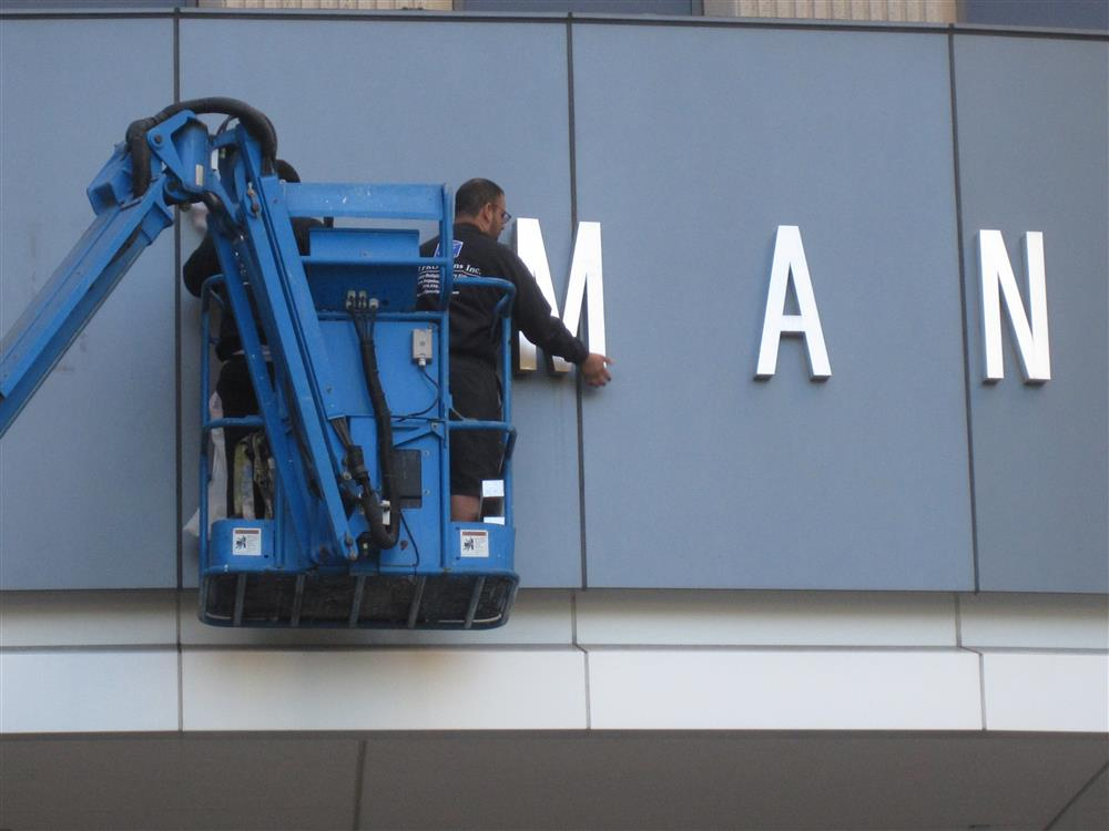 sign installation