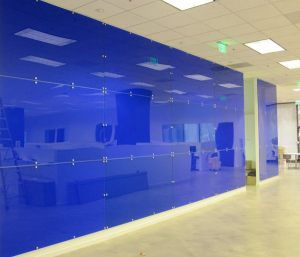 Blue Acrylic Wall