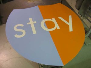 Specialty Painted CNC Cut Acrylic Shape Sign