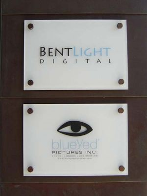 Suite Acrylic Sign With Decorative Fasteners